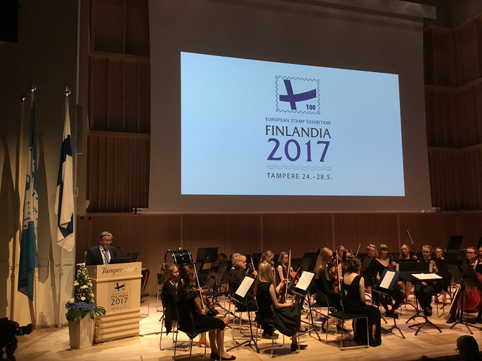 Giornata di inaugurazione FINLANDIA 2017 International Stamp Exhibition